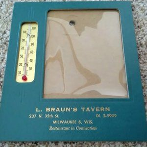 Vintage Thermometer with Advertising